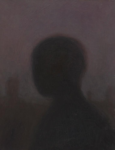 "Shaun Tan - ""Head: Nocturne"" (2012) - oil on board- 20 x 15cm (7.8""x6"")"