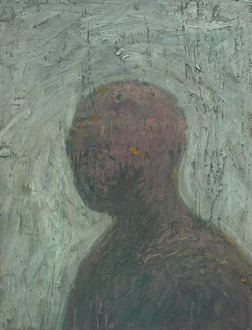 "Shaun Tan - ""Head: Patience"" (2012) - oil on board- 20 x 15cm (7.8""x6"")"