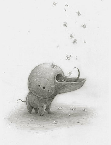 "Shaun Tan - Lost Thing film concept art: Blossom Eater (2010) - pencil on paper - 29.7 x 42cm (11.7""x16.5"")"