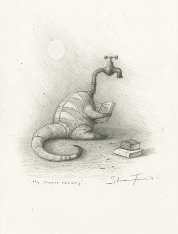 "Shaun Tan - Lost Thing film concept art: Summer Reading (2010) - pencil on paper - 21 x 29.7cm (8.3""x11.7"")"