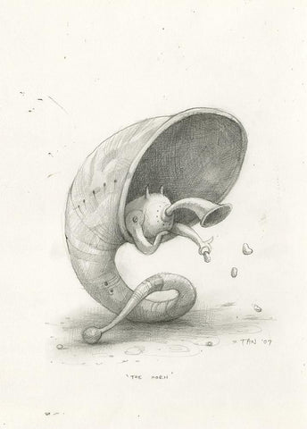 "Shaun Tan - Lost Thing film concept art: The Horn (2007) - pencil on paper - 21 x 29.7cm (8.3""x11.7"")"