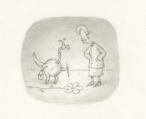 "Shaun Tan - Lost Thing film TV ad - Things that just don't belong (2009) - pencil on paper - 21 x 14.5cm (8.3""x5.7"")"