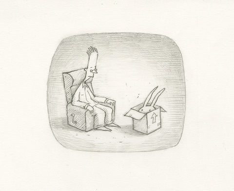 "Shaun Tan - Lost Thing film TV ad - Unclaimed property (2009) - pencil on paper - 21 x 15cm (8.3""x5.9"")"