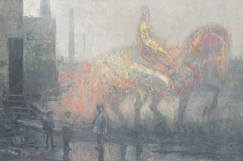 "Shaun Tan - ""Mercenary"" - oil on canvas - 135 x 90cm (53""x35.4"")"