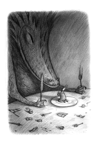 "Shaun Tan - ""Rich and Rare"" (2016) - pencil and pen - 21.5 x 15cm (8.4""x6"")"