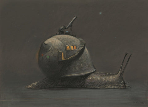 "Shaun Tan - ""Science"" (2016) - pastel on paper- 75 x 55cm (29.5""x21.6"")"