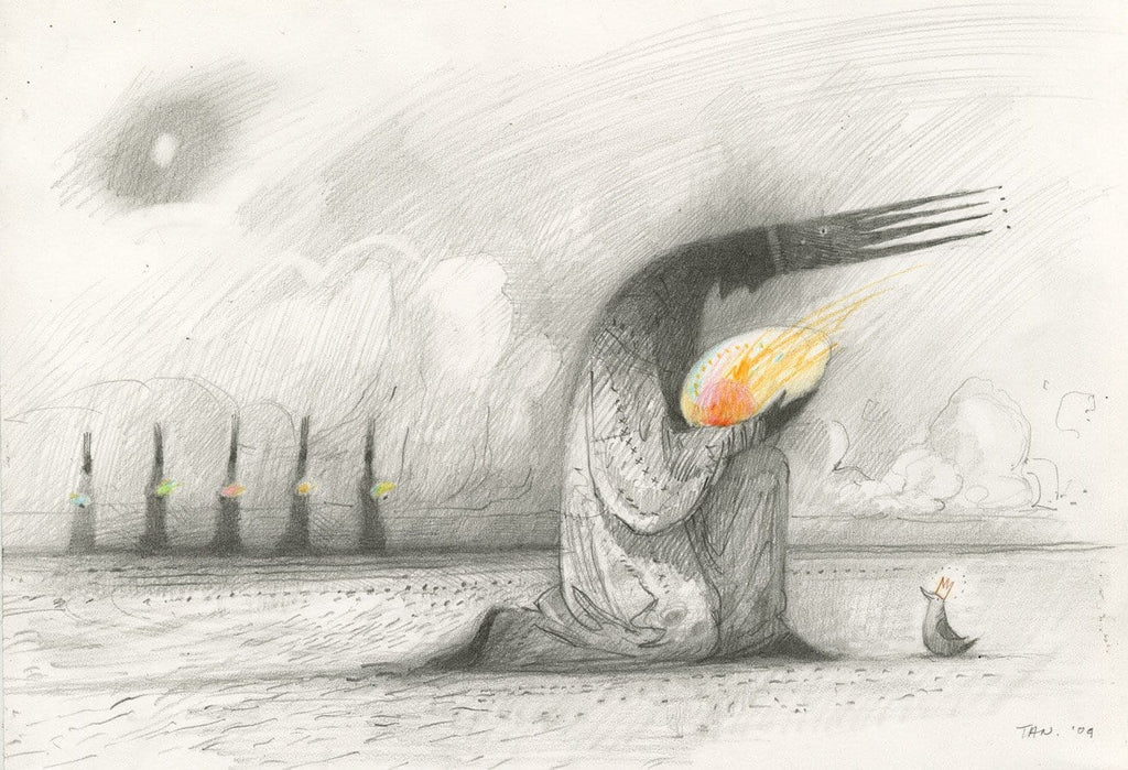 "Shaun Tan - ""The Bird King (Egg)"" (2009) - pencil on paper - 21 x 29.7cm (8.2""x11.6"")"