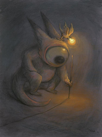 "Shaun Tan - ""The First Line"" (2016) - pastel on paper - 75 x 55cm (29.5""x21.6"")"
