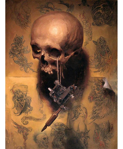 "Shawn Barber - ""Vanitas (Homage to Greg Irons)"" - limited edition print of 100 - 27.9 x 34.3cm (10""x13.5"")"