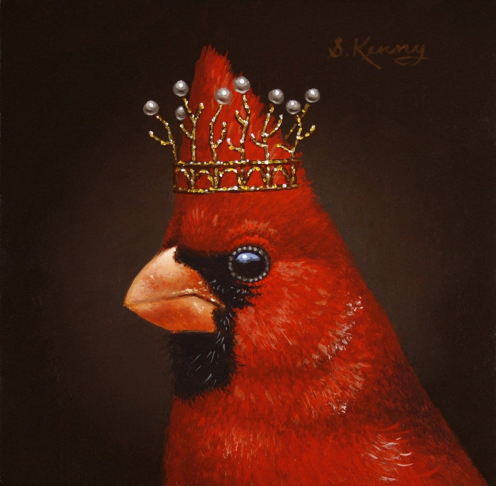 "Steven Kenny - ""Royal Cardinal"" - oil painting"