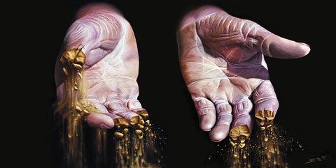 "Stuart Amos - ""Salt of the Earth"" - oil on canvas - 90 x 45cm (35.4""x17.7"")"