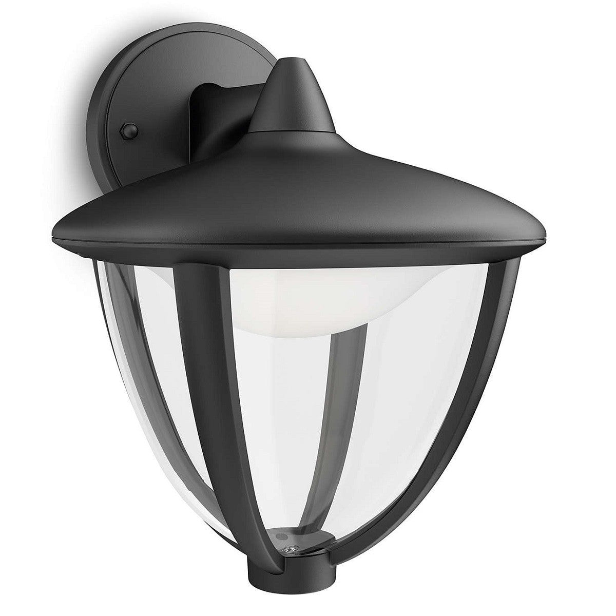 Philips 154713016 robin black led outdoor down lantern wall philips 154713016 birco lighting aloadofball Image collections