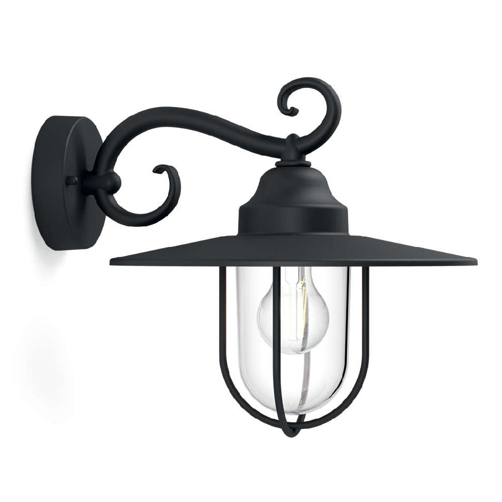 philips 16270 30 pn pasture black outdoor down lantern wall light