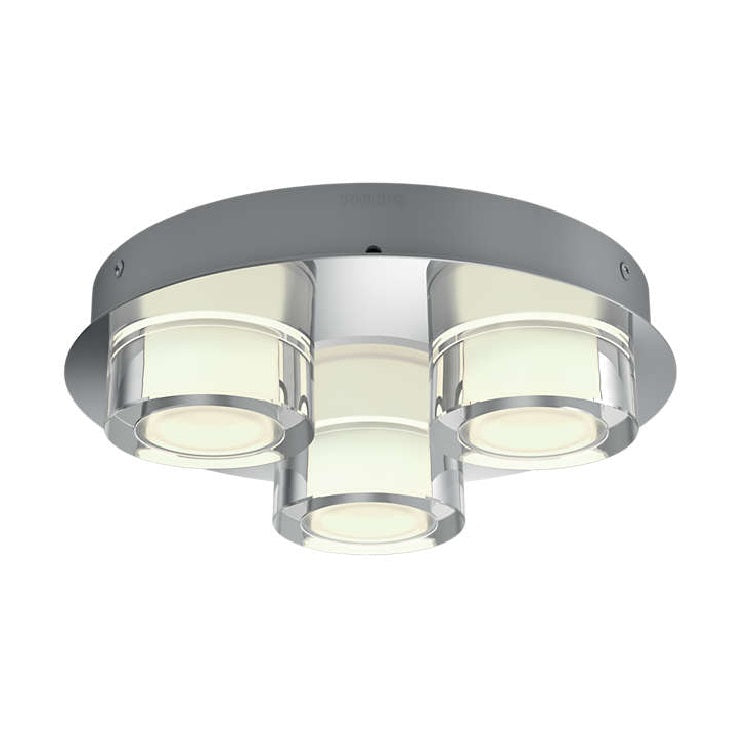 quality design bac3f 06cf3 Philips 34172/11/P0 Resort LED Chrome Bathroom Modern 3 Lamp Round Spot  Flush (3417211P0)