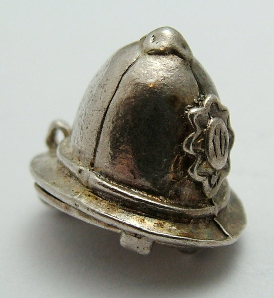 Vintage 1960's Silver Opening Nuvo Policeman's Helmet Charm Police Car Inside Nuvo Charm - Sandy's Vintage Charms