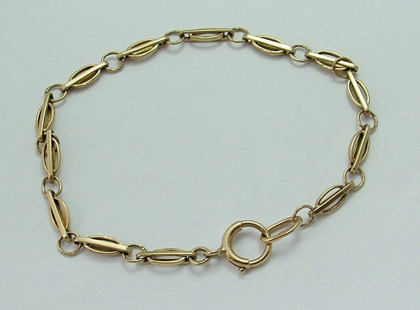 Vintage 1970's English Solid 9ct Gold Bracelet with Bolt Ring Fastener Bracelet - Sandy's Vintage Charms