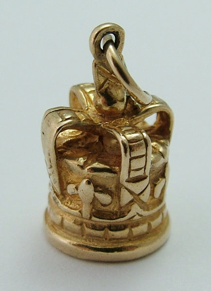 Vintage 1970's 9ct Gold Crown Charm Gold Charm - Sandy's Vintage Charms