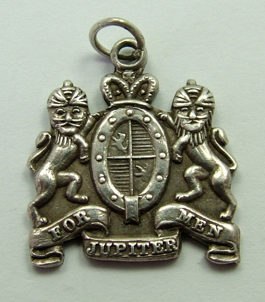 1960's Solid Silver Heraldic Crest Charm 'For Jupiter Men' HM 1966 Silver Charm - Sandy's Vintage Charms