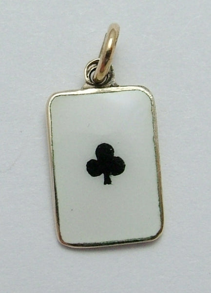 Vintage 1930's 9ct Gold & Enamel Ace of Clubs Playing Card Charm Gold Charm - Sandy's Vintage Charms
