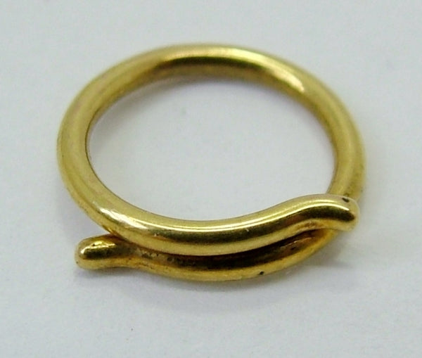 Antique Victorian Solid 9ct Gold Split Ring for Fobs & Charms 9mm Antique Charm - Sandy's Vintage Charms