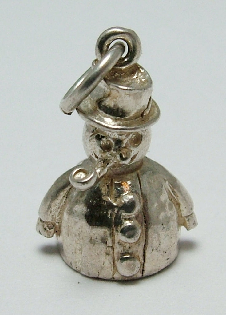 Vintage 1970's Silver Snowman Charm Silver Charm - Sandy's Vintage Charms