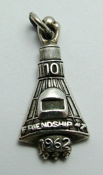 Vintage 1970's Solid Silver Charm of the Friendship 7 Spaceship 1962 Silver Charm - Sandy's Vintage Charms