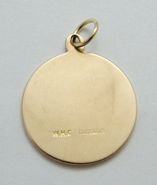 Vintage 1960's Solid 9ct Gold 'Lord's Prayer' Disc Charm Gold Charm - Sandy's Vintage Charms