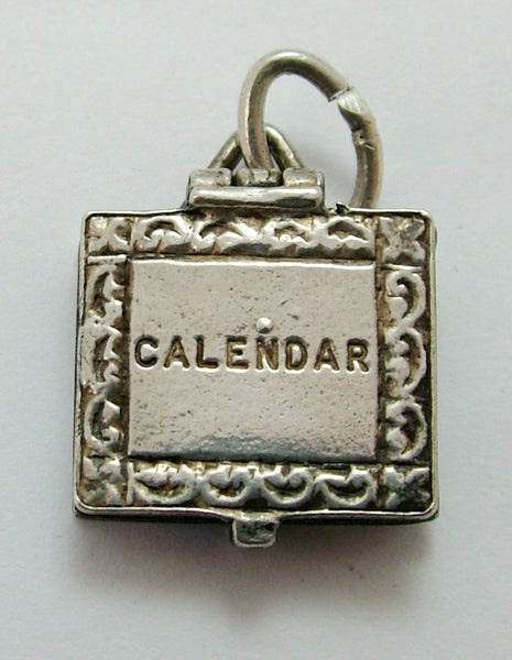 Vintage 1960's Silver Opening Nuvo Calendar Charm Paper Dates Inside Nuvo Charm - Sandy's Vintage Charms