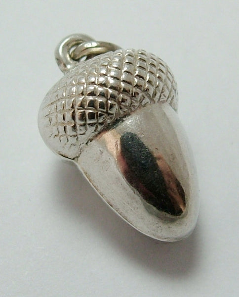 Vintage 1960's Silver Hollow Acorn Charm