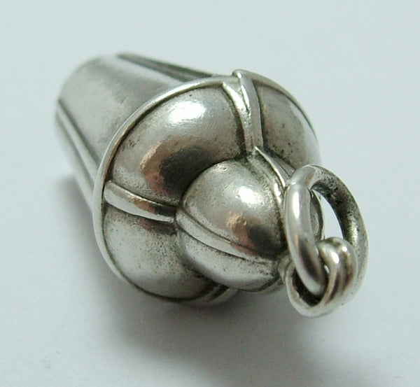 Vintage 1950's Hollow Silver Cocktail Shaker Charm 1920s-1950s Charm - Sandy's Vintage Charms