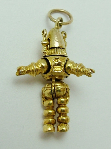 Vintage 1950's 9ct Gold Articulated Spaceman Astronaut Charm Gold Charm - Sandy's Vintage Charms