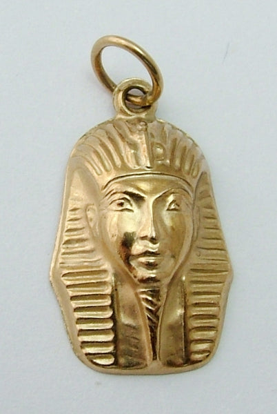 Vintage 1950's 9ct Gold Puffed Tutankhamun Death Mask Charm Gold Charm - Sandy's Vintage Charms