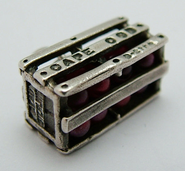Vintage American Silver Cape Cod Crate with Cranberries Inside Silver Charm - Sandy's Vintage Charms