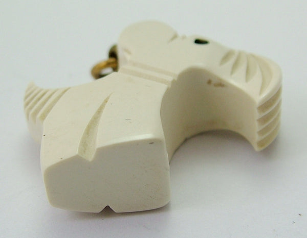 Vintage 1930's Hard Plastic/Celluloid Art Deco Scottie/Westie Dog Charm 1920s-1950s Charm - Sandy's Vintage Charms