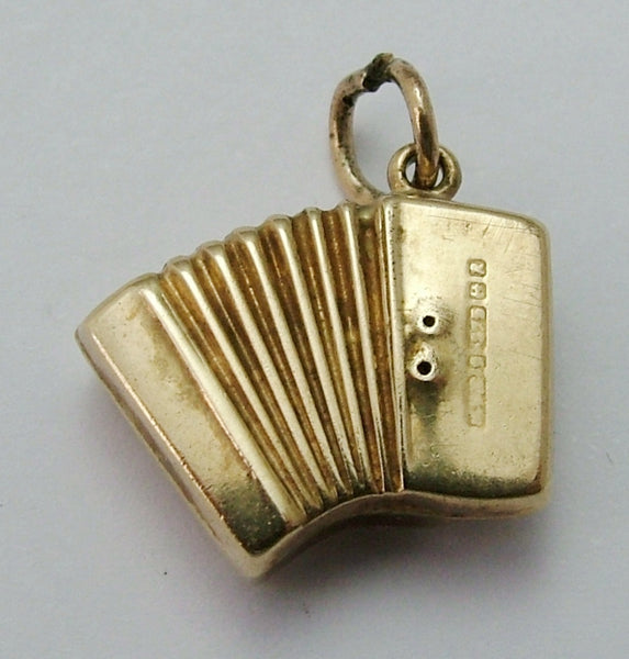 Vintage 1960's Hollow 9ct Gold Accordion Charm Gold Charm - Sandy's Vintage Charms