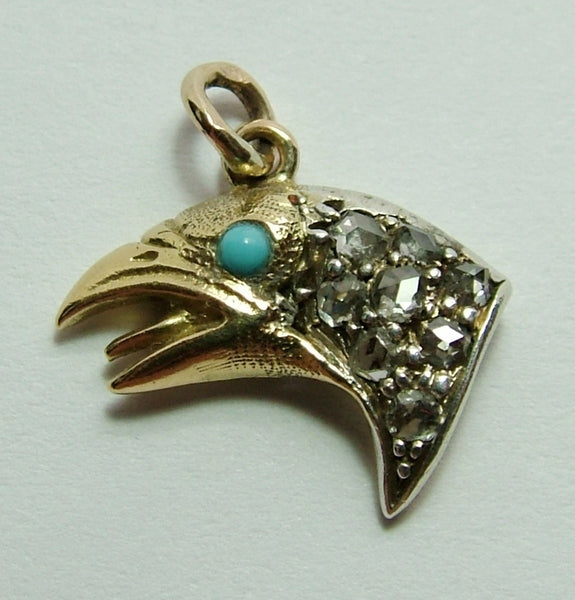 Antique Edwardian c1905 18ct 18k Gold & Diamond Game Bird Charm Antique Charm - Sandy's Vintage Charms