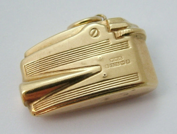 Vintage 1960's 9ct Gold Puffed Cigarette Lighter Charm Gold Charm - Sandy's Vintage Charms