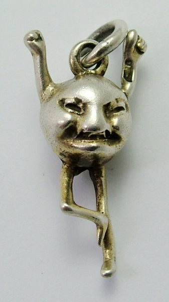 Antique Victorian Solid Silver Charm of an Unknown Character c1900 Antique Charm - Sandy's Vintage Charms