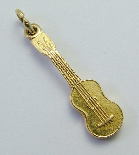 Vintage 1960's Solid 14k 14ct Gold Guitar Charm Gold Charm - Sandy's Vintage Charms