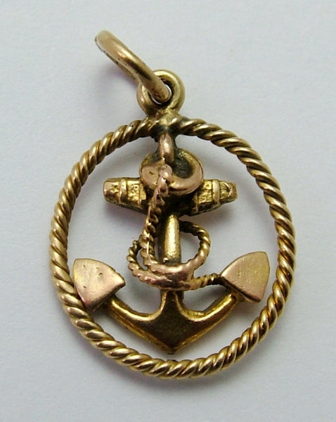 Vintage 1940's Solid 9ct Gold Anchor Charm Gold Charm - Sandy's Vintage Charms
