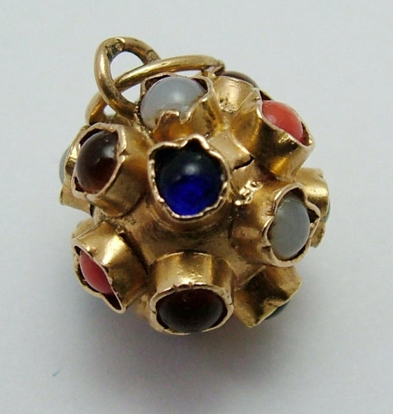 Small Vintage 1950's/1960's 18ct 18k Gold Gem Ball Charm Gold Charm - Sandy's Vintage Charms