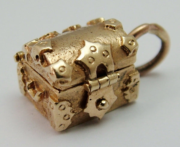 Vintage 1950's 9ct Gold Opening Treasure Chest Charm Gold Charm - Sandy's Vintage Charms