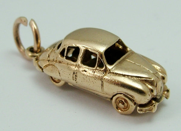 Vintage 1950's 9ct Gold Jaguar Car Charm with Rotating Wheels HM 1959 Gold Charm - Sandy's Vintage Charms