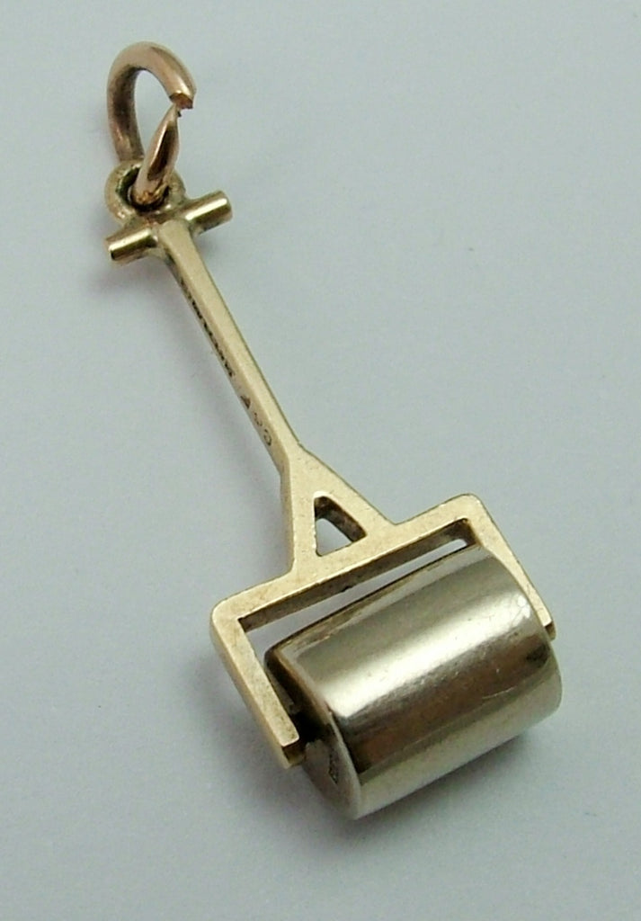 Vintage 1950's Two Colour 9ct Gold Moving Garden Roller Charm Gold Charm - Sandy's Vintage Charms