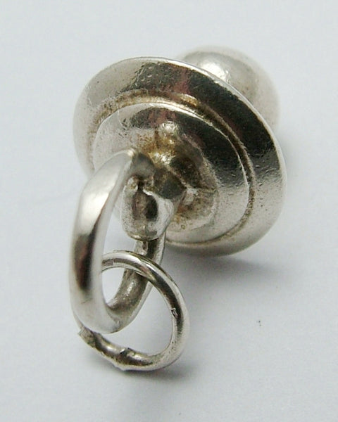 Vintage 1980's Solid Silver Babies Dummy or Pacifier Charm Silver Charm - Sandy's Vintage Charms