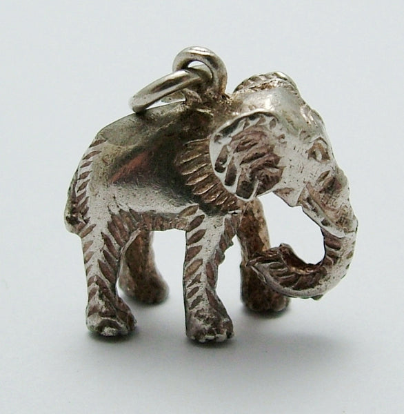 Vintage 1960's Solid Silver Elephant Charm Silver Charm - Sandy's Vintage Charms