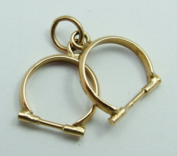 Vintage 1950's 9ct Gold Charm - Pair of Hand Cuffs Gold Charm - Sandy's Vintage Charms