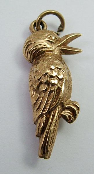 Vintage 1960's 9ct Gold Puffed Kookaburra Charm Gold Charm - Sandy's Vintage Charms