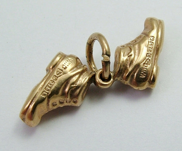 Vintage 1960's 9ct Gold Hollow Pair of Boots Charm Gold Charm - Sandy's Vintage Charms