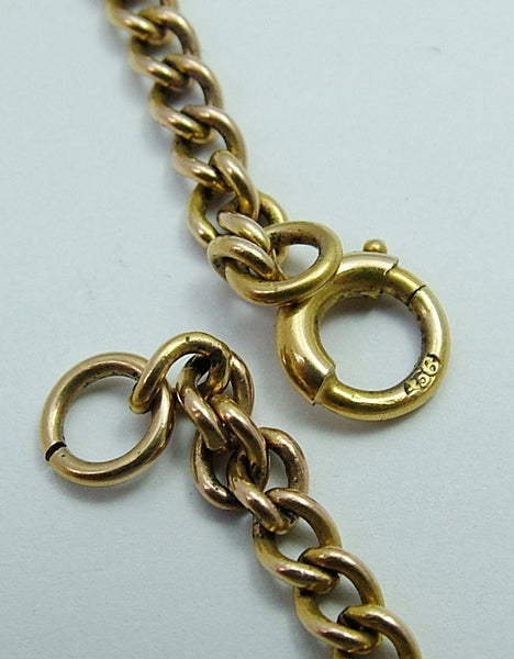 Vintage 1950's English Solid 9ct Gold Bracelet with Bolt Ring Fastener Bracelet - Sandy's Vintage Charms